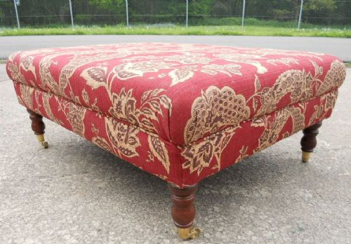 Large Upholstered Centre Stool